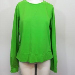 Lululemon Warm-Up Crew Top Size 8 Green Zipper
